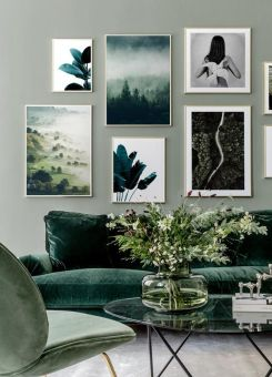 Interior design, home decor, home accessories, rooms, living rooms, green